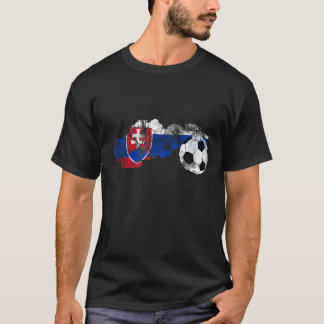 Distressed Slovakia Soccer T-Shirt