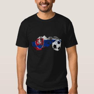 Distressed Slovakia Soccer Tshirts