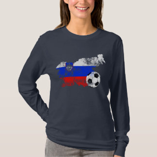 Distressed Slovenia Soccer T-Shirt
