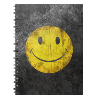 Distressed Smiley Face Notebook