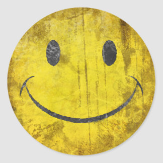 Distressed Smiley Face Sticker