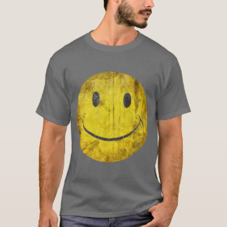 Distressed Smiley Face T-Shirt
