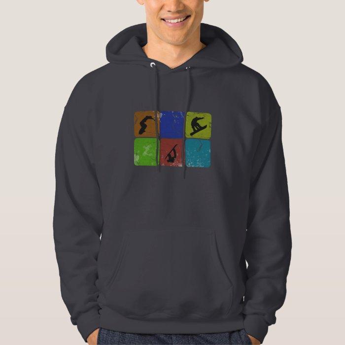 Distressed Snowboarding hoodie