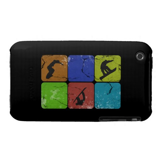 Distressed Snowboarding iPhone 3G 3Gs case