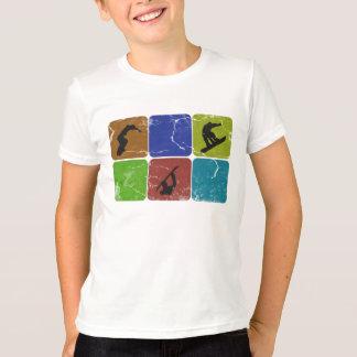 Distressed Snowboarding kids t-shirt