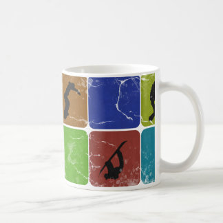 Distressed Snowboarding mug