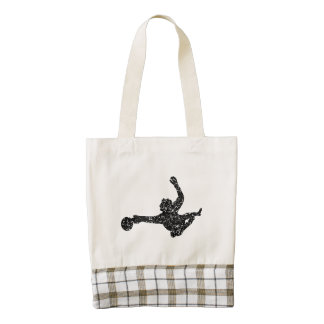 Distressed Soccer Goalie Silhouette Zazzle HEART Tote Bag