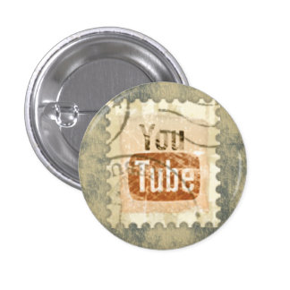 Distressed Social Media - YouTube Pinback Button