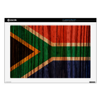 """Distressed South Africa Flag 17"""" Laptop Skin"""