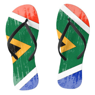 DISTRESSED SOUTH AFRICA FLAG.png Flip Flops