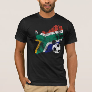 Distressed South Africa Soccer T-Shirt