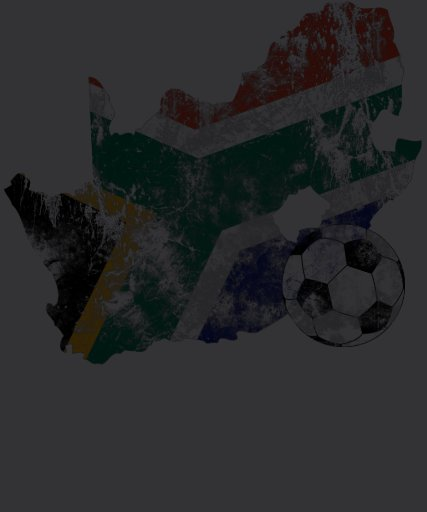 Distressed South Africa Soccer Tee Shirt