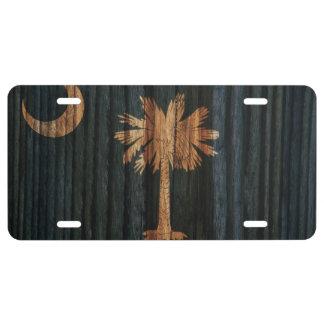 Distressed South Carolina Flag License Plate