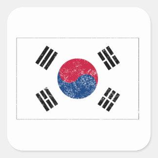 Distressed South Korea Flag Sticker