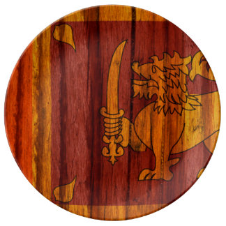 Distressed Sri Lanka Flag Dinner Plate