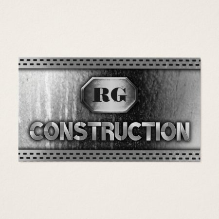 Cool Steel Elements Construction Building and Construction Business Cards