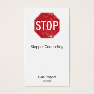 Distressed Stop Sign Business Card