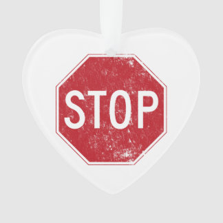 Distressed Stop Sign Ornament