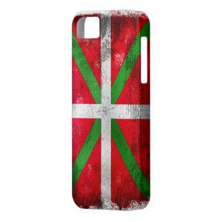 Distressed style Basque flag: Ikurriña, iPhone 5 Cases