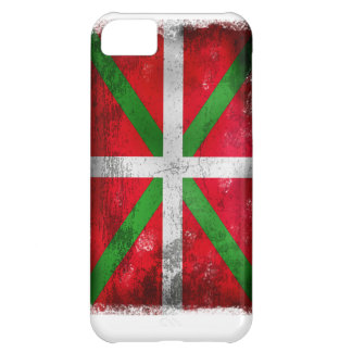 Distressed style Basque flag: Ikurriña, Cover For iPhone 5C
