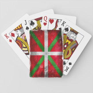 Distressed style Basque flag: Ikurriña, Playing Cards