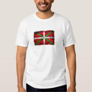 Distressed style Basque flag: Ikurriña, T Shirt