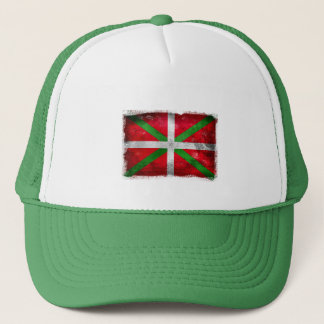 Distressed style Basque flag: Ikurriña, Trucker Hat