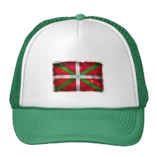 Distressed style Basque flag: Ikurriña, Trucker Hat