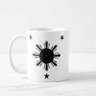 Distressed style Philippine Sun and Stars Mug