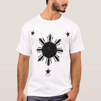 Distressed Style Philippine Sun & stars T-Shirt
