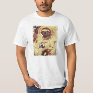 Distressed style Sloth astronaut T-Shirt
