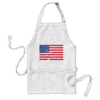 Distressed style USA flag Adult Apron