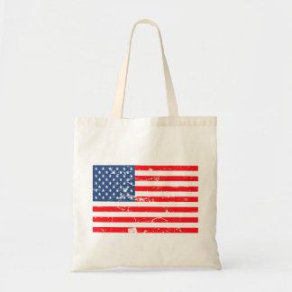 Distressed style USA flag Budget Tote Bag
