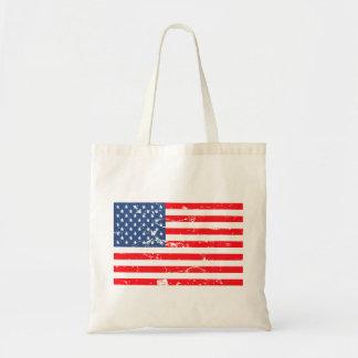 Distressed style USA flag Budget Tote Bag