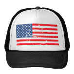Distressed style USA flag Cap