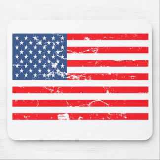 Distressed style USA flag Mouse Pad