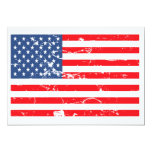 Distressed style USA flag Party Invite 13 Cm X 18 Cm Invitation Card