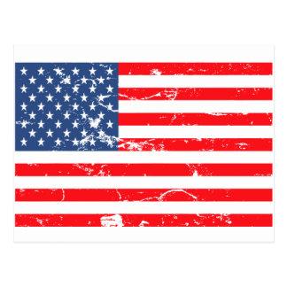 Distressed style USA flag Postcard