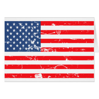 Distressed style USA flag Stationery Note Card