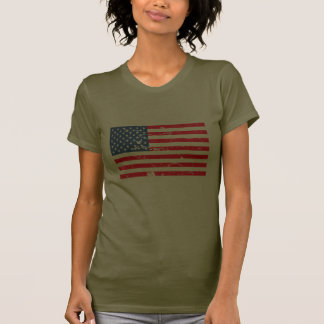 Distressed style USA flag T-shirts