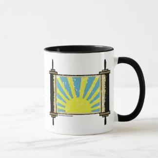 Distressed Sunrise Torah Mug in Color