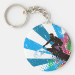 Distressed Surfer Paradise Keychains