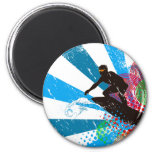 Distressed Surfer Paradise Magnet