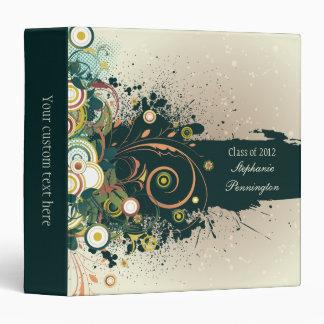 Distressed swirls graduation memory book binder