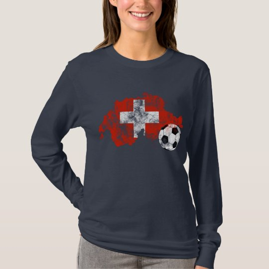 Distressed Switzerland Soccer T-Shirt