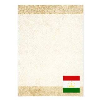 """Distressed Tajikistan Flag 5"""" X 7"""" Invitation Card"""