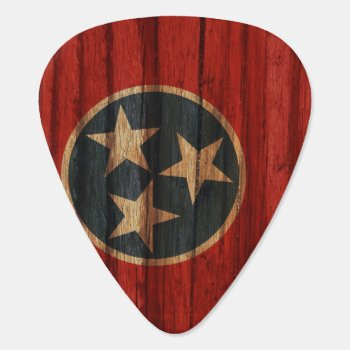 Distressed Tennessee Flag Guitar Pick by OfficialFlags at Zazzle