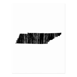 Distressed Tennessee State Outline Postcard