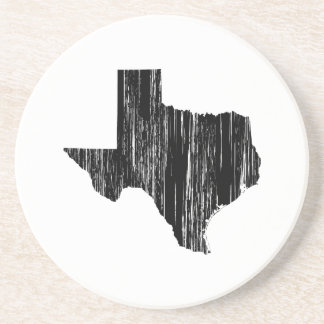 Distressed Texas State Outline Drink Coaster