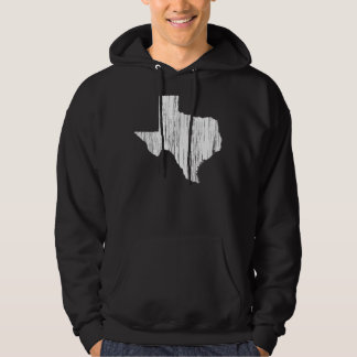 Distressed Texas State Outline Hooded Pullover